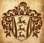 Heraldic Crest And Stags Logo by WildSpiritWolf