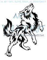 Bold Howling Wolf Tattoo by WildSpiritWolf