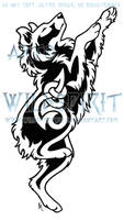 Australian Shepherd Melody Knot Tattoo by WildSpiritWolf