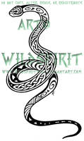 Maori Celtic Snake Tattoo by WildSpiritWolf