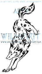 Leaping Snowflake Wolf Design by WildSpiritWolf