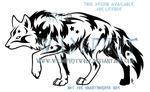 Star Treader Tribal Wolf Design by WildSpiritWolf