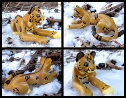 Vieto The Clouded Jaguar - Sculpture by WildSpiritWolf