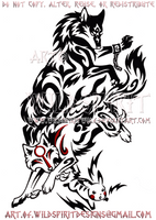 Wolf Link, Amaterasu, + Pikachu Design by WildSpiritWolf
