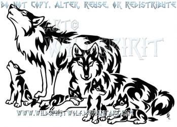 Tribal Wolf Family Design by WildSpiritWolf