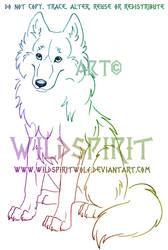 Sitting Wolf Sketch Commission by WildSpiritWolf