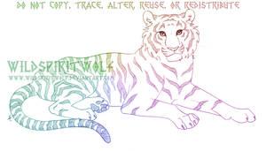 Lying Tigress Sketch Commissio by WildSpiritWolf