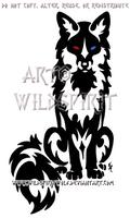 Bi-Eyed Sitting Tribal Fox by WildSpiritWolf
