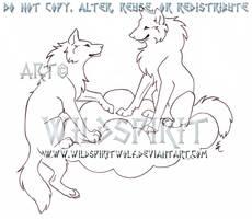 Heavenly Wolves Memorial Sketch by WildSpiritWolf