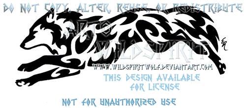 Fleet Wolf Tribal Design by WildSpiritWolf
