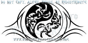 Playful Yin Yang Wolves Design by WildSpiritWolf