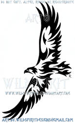 Soaring Eagle Tribal Design by WildSpiritWolf