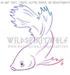 Luna Betta Fish Sketch Commission by WildSpiritWolf