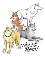 Wolf's Rain Group by WildSpiritWolf