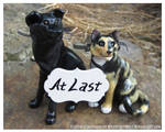 Wedding Topper Set - Gunnar And Solstice With Sign by WildSpiritWolf
