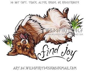 Find Joy - Auburn Memorial Portrait Commission by WildSpiritWolf