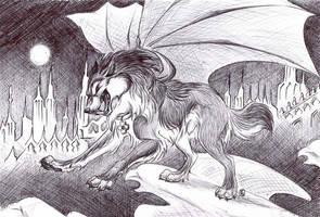 Montague Takes Flight by WildSpiritWolf