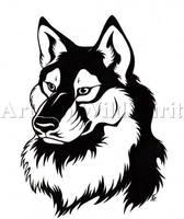 WolfDog Tattoo Commission by WildSpiritWolf