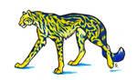 Bluestripe King Cheetah by WildSpiritWolf