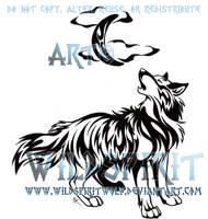 LoboMoonSong Tattoo Commission by WildSpiritWolf