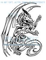 Dragon Wolf Tattoo Design by WildSpiritWolf
