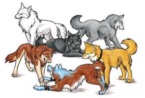 Wolf's Rain And NutMeg Commish by WildSpiritWolf