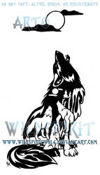 Waterfall Wolves Tattoo by WildSpiritWolf
