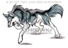 Kolmastoista Lohikaarme Wolf by WildSpiritWolf