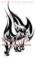 Flame Dance Wolf Tattoo by WildSpiritWolf