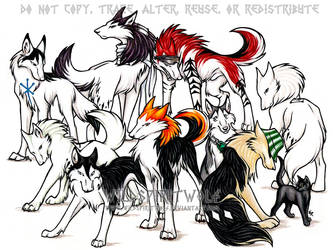 Bleach Wolf Character Commish by WildSpiritWolf