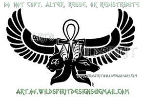 Anubis Bastet Egyptian Design by WildSpiritWolf