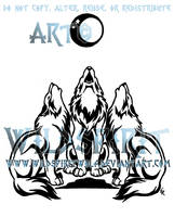 Three Wolf Chorus Tattoo by WildSpiritWolf