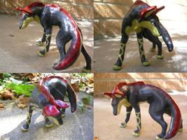 Swamp Wolf Sculpture Commish by WildSpiritWolf