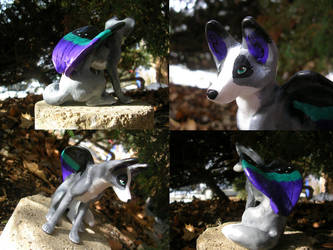 Yoru-Rose's Wolf Sculpture by WildSpiritWolf
