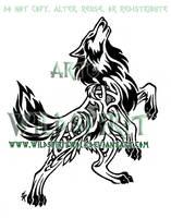Nordic Flame Wolf Design by WildSpiritWolf