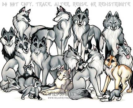 WeuUkoo Clan Wolf Pack Commish by WildSpiritWolf
