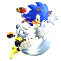 Sonic And Tangle Render (IDW Issue Cover 4) by TBSF-YT