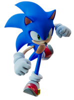 Sonic throwing a punch by TBSF-YT