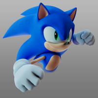 Sonic throwing a punch 2.0 by TBSF-YT