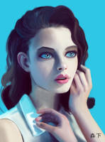 Girl-Blue by Murashi-Art