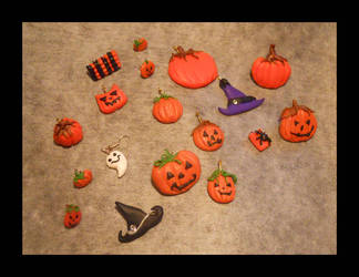 Some Little Halloween Charms and Brooches by JulietTaylor