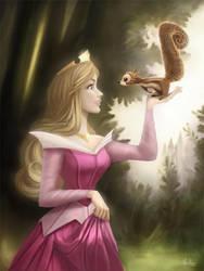 Princess Aurora - Coloring Page by MonicaMarinho