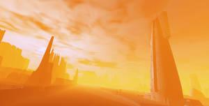 Alien City at Sunset V7 by sicklilmonky