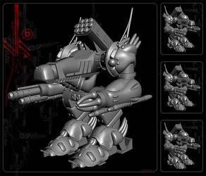 Dragon Mech Untextured by tilstrom