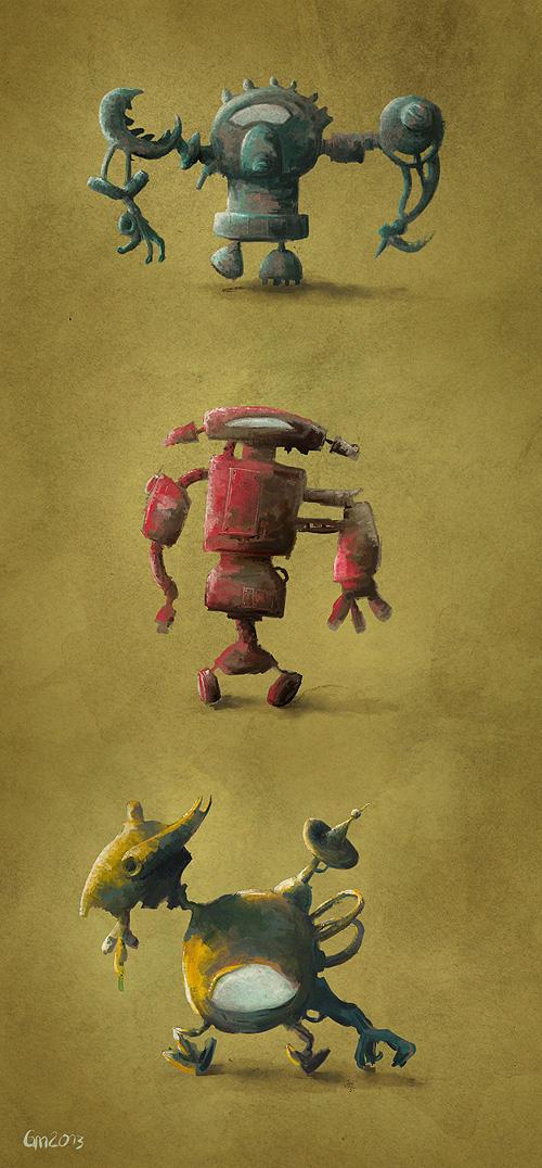 Three Robos by Cratefruit