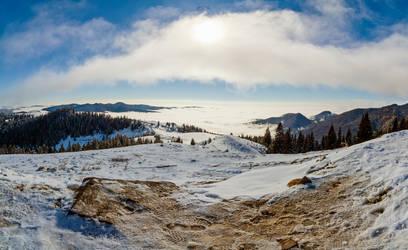 Trans-Bucegi view by trekking-triP