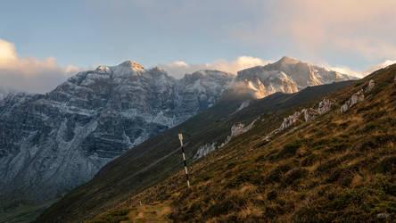 White powder on the peaks by trekking-triP
