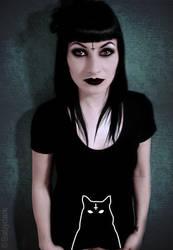 Satanic cat t-shirt by babydark