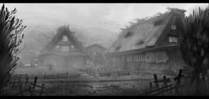 Japanese Village (Misty) by Narandel