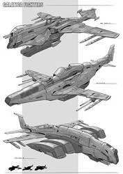 Galatica Fighters by Narandel